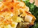 Рецепта Гретен от картофи и праз със соева кайма